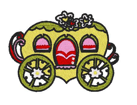 Fantasy Carriages Crystals 10 Machine Embroidery Designs In Pes